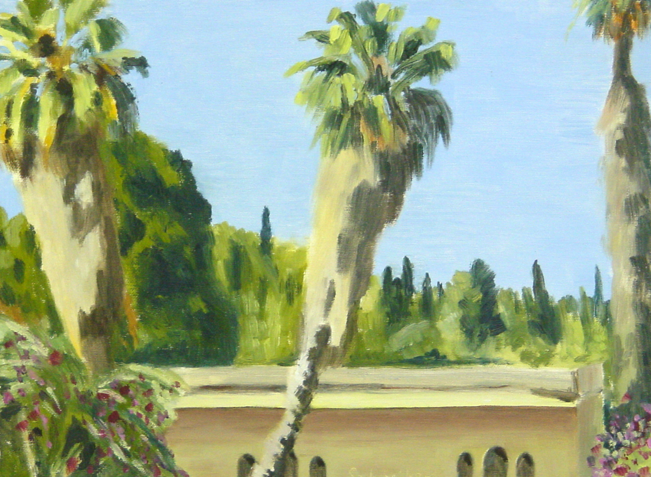palm-trees-in-jerusalem-30x40cm
