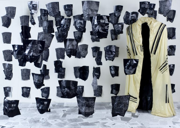 letters-from-my-grandparents-cropped-2-5x5x3m-variable-200-paper-masks-fibreglass-sculpture-paper
