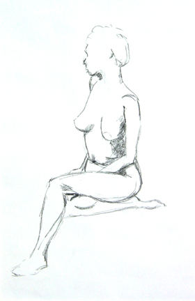 Nude 1 50x42cm [pencil and charcoal]