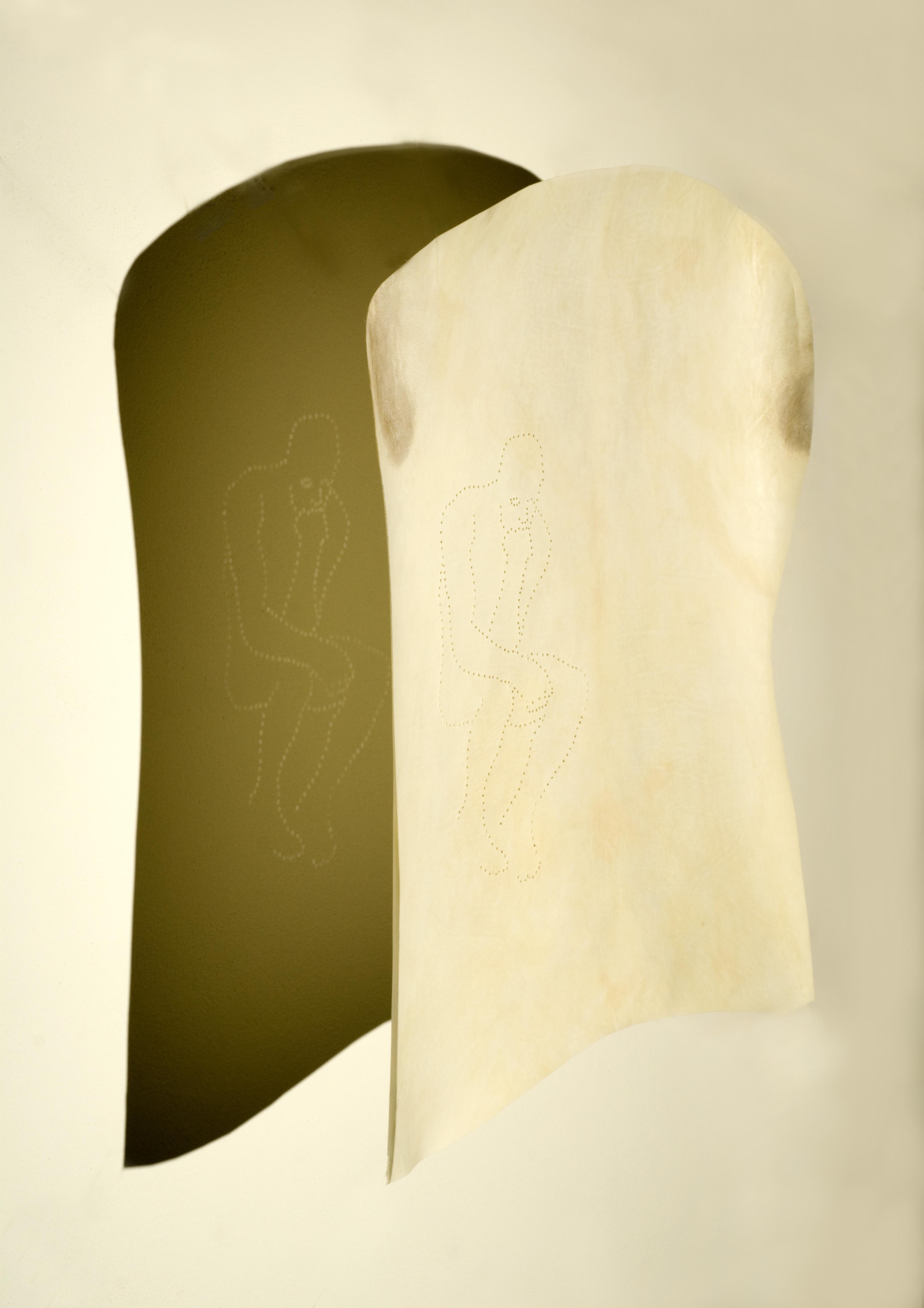 reflection-rodins-thinker-52x44x20cm-light-through-pierced-parchment
