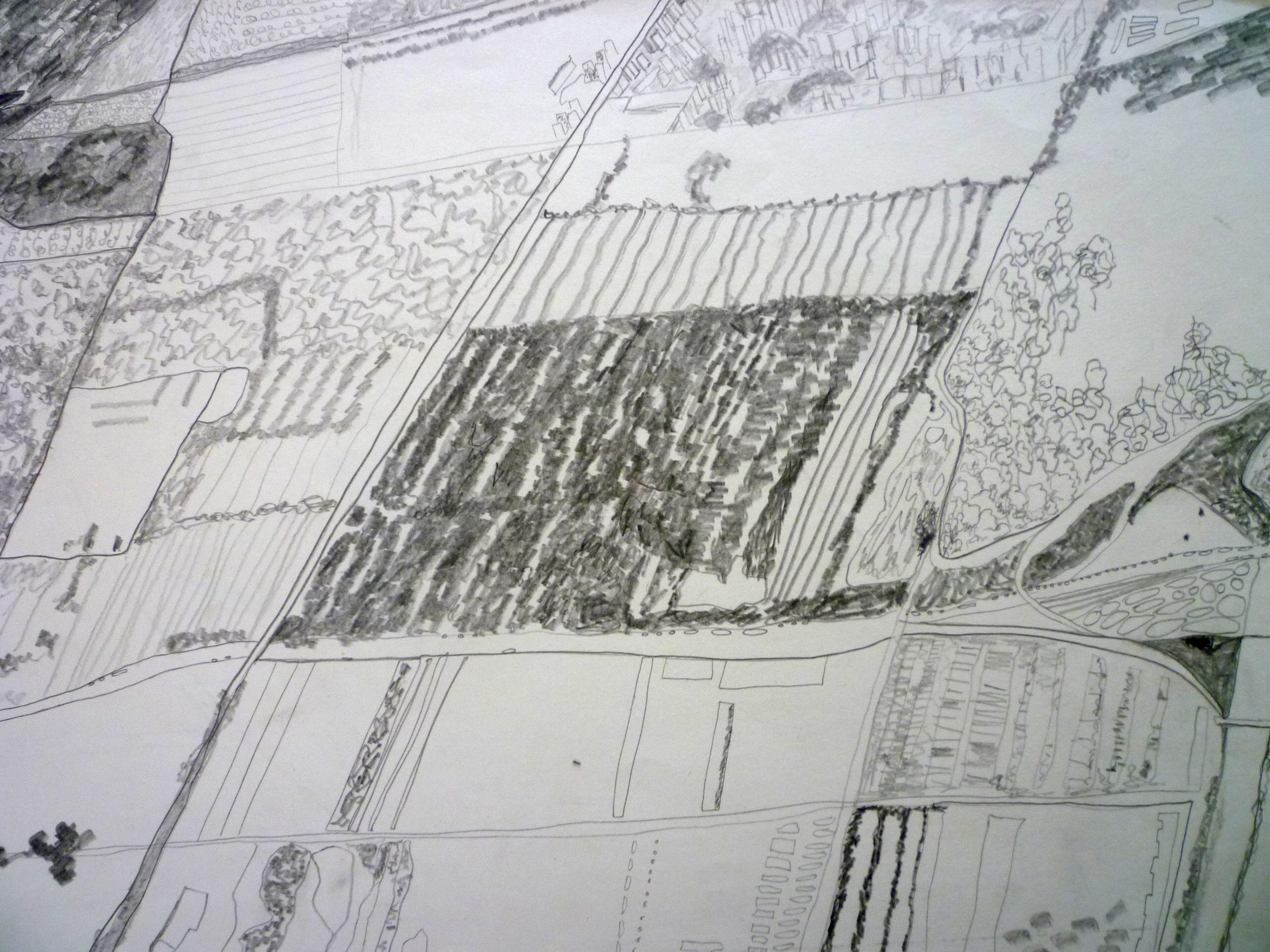 Aerial view 36x51cm [pencil]