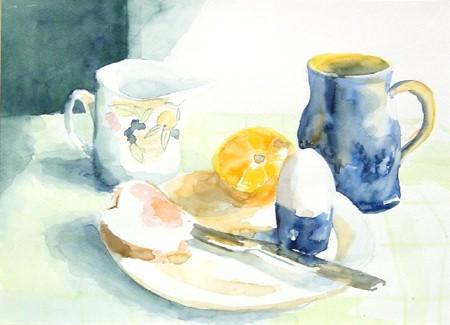 Breakfast 26x36cm