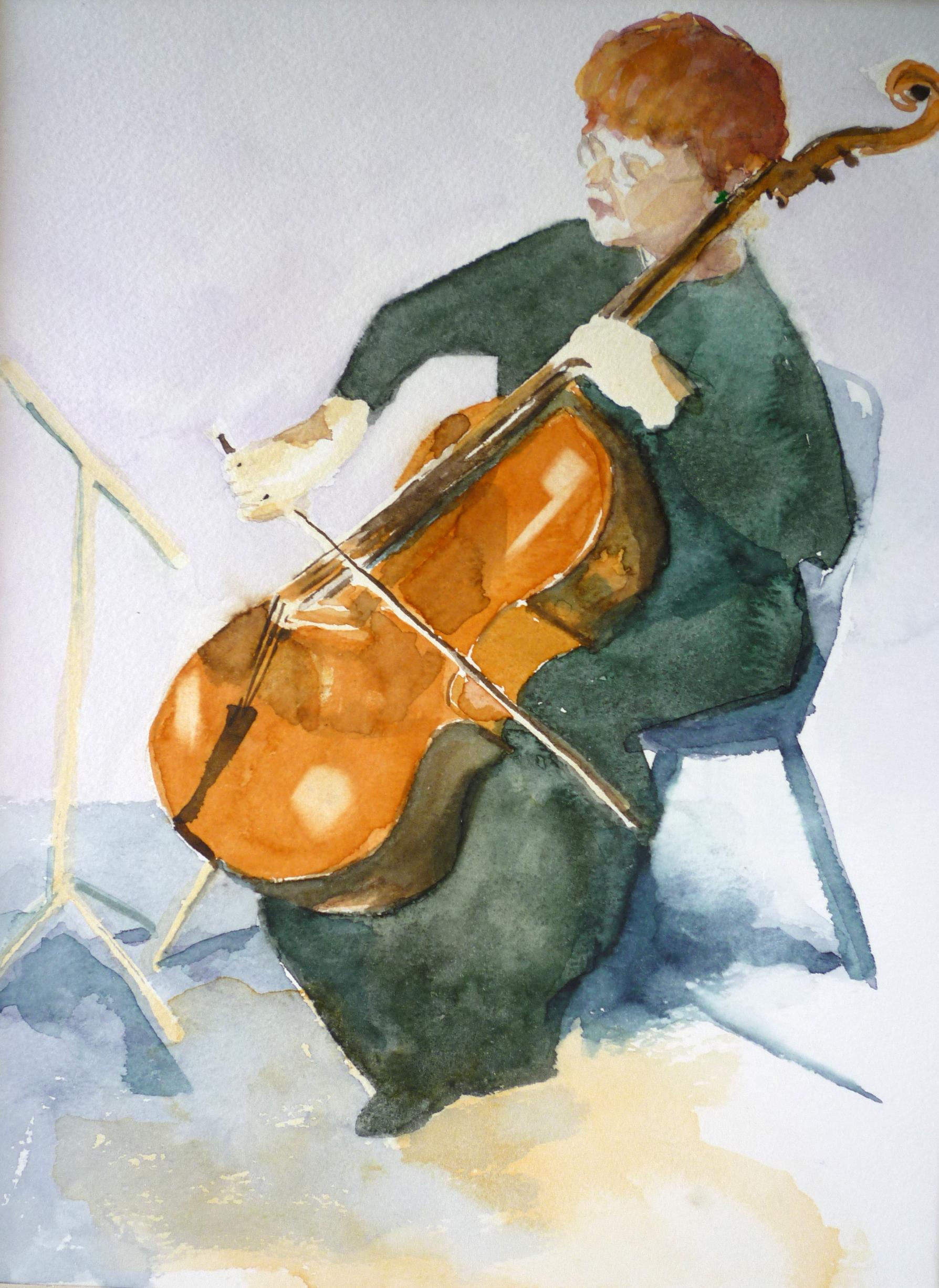 Cellist 29x22cm