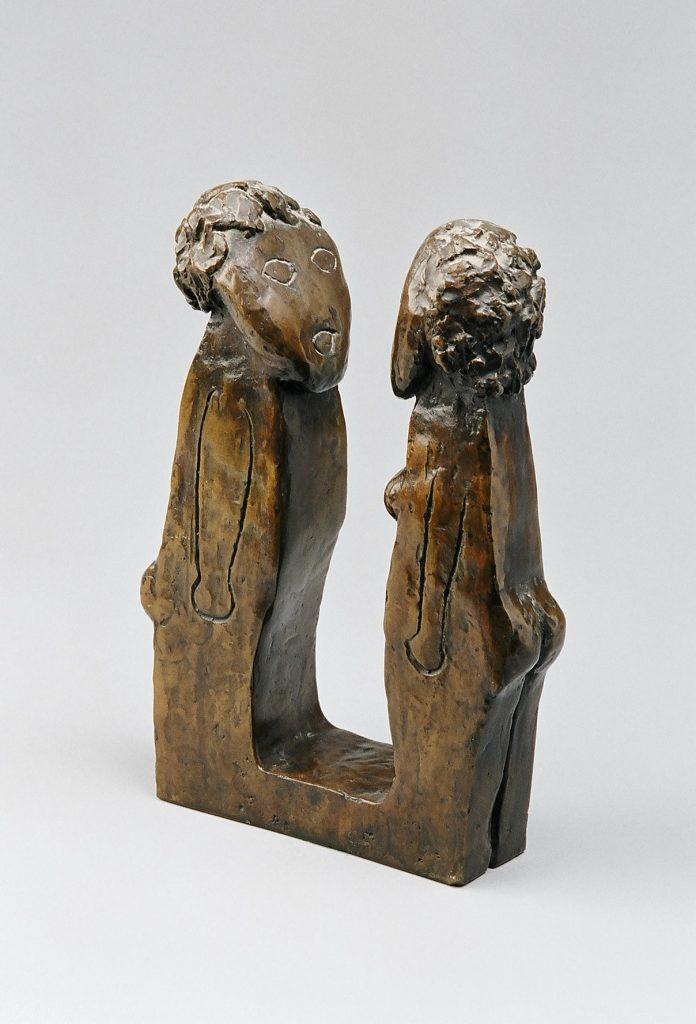 Couple, bronze 21x 14 x 4.7cm -2013