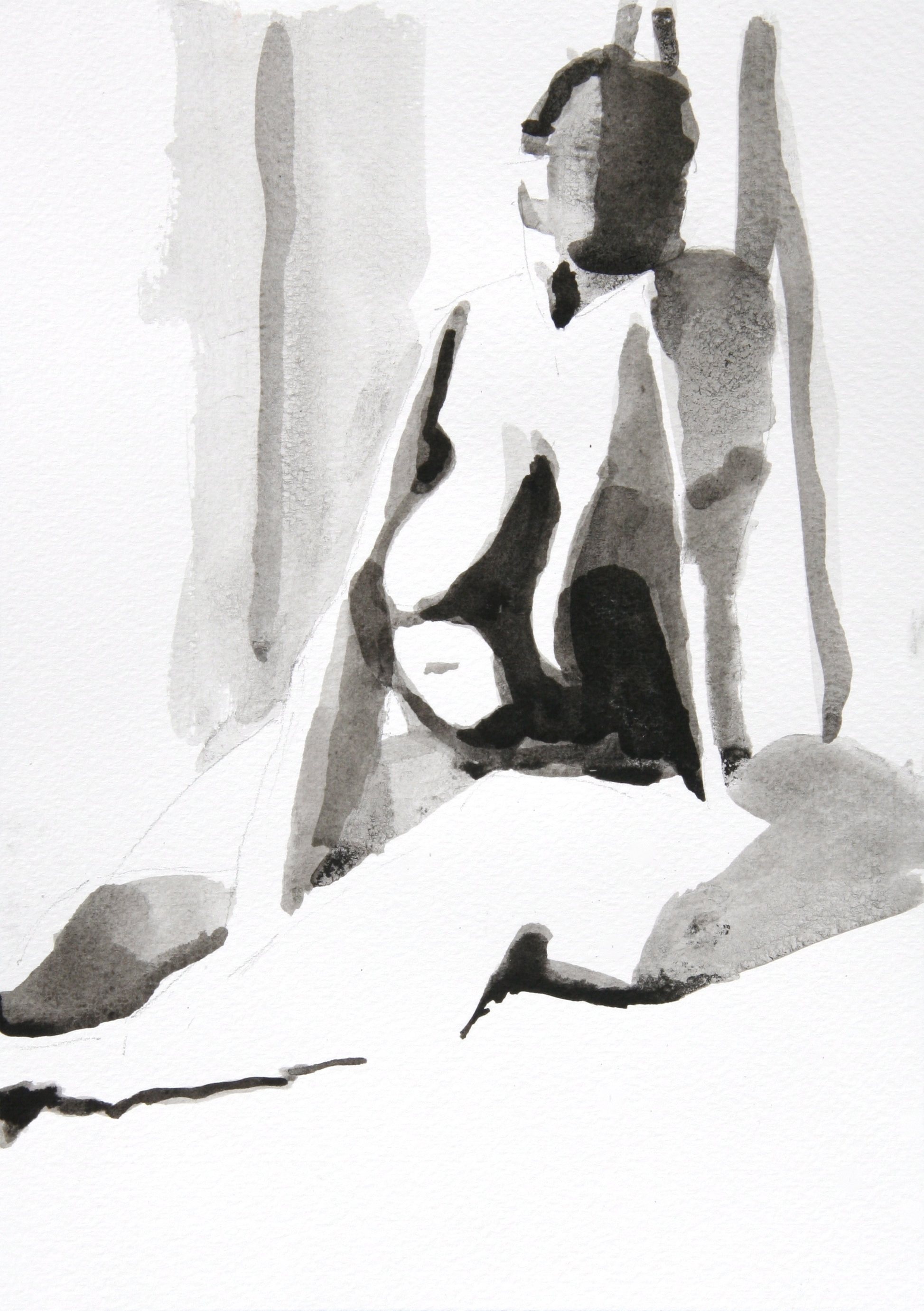 Nude 25x18cm [ink wash and pencil]
