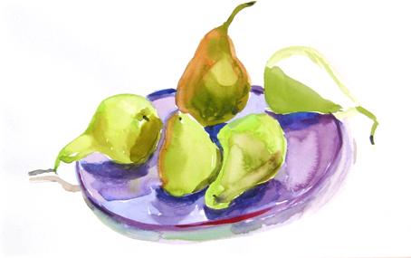 Pears 23x37cm