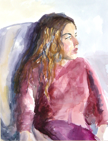 Girl in pink 47x36cm