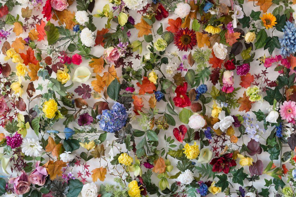 Garden of Eden[126x160x12cm] silk, plastic